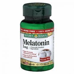 1891111 Natures Bounty Natural Melatonin 1mg, Tablets, 180