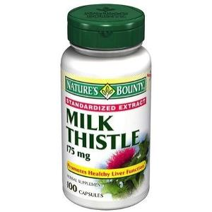 1891189 Natures Bounty Natural Milk Thistle, 100 Count