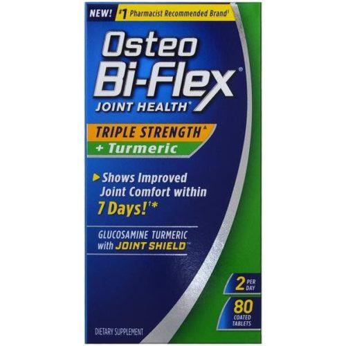 1891723 Osteo Bi-Flex Triple Strength Joint Health Plus Turmeric Tablets - 80 Count