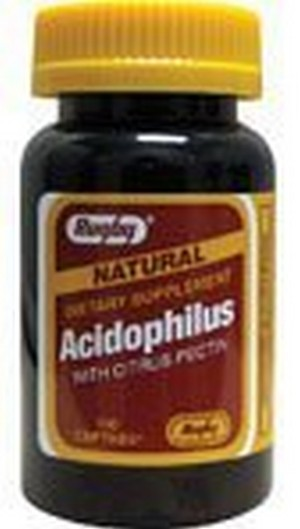 1893114 Rugby Natural Acidophilus with Citrus Pectin, 100 Count