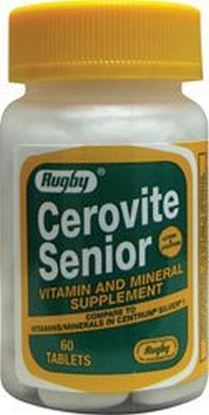 1893297 Cerovite Senior 60 Tablets by Rugby