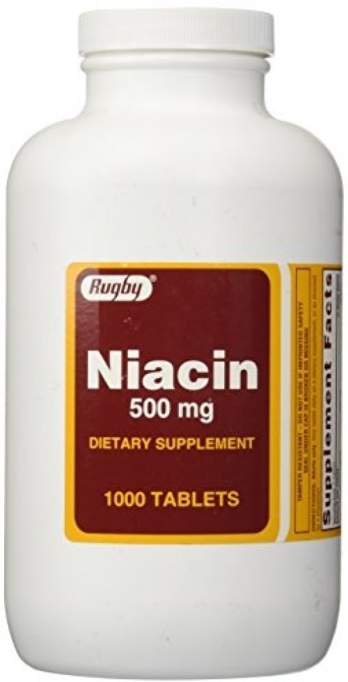 1893599 Rugby Niacin 500 mg 1000 Tablets