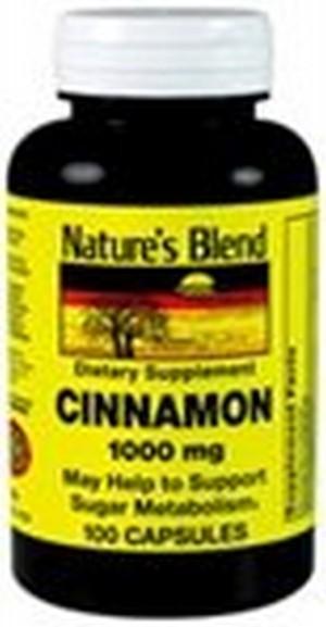 1895583 Natures Blend Cinnamon 1000 mg 100 Capsules