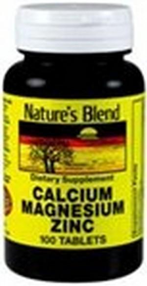 1895834 Natures Blend Calcium Magnesium Zinc 100 Tablets