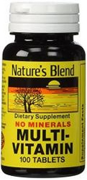 1897136 Natures Bounty Multi Vitamin No Mineral 100 Tablet