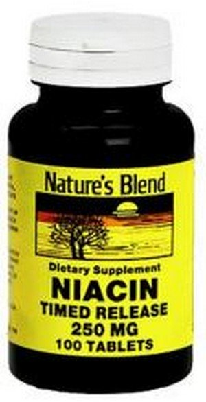 1897322 Natures Blend Niacin 250 mg Tablets Timed Release - 100 Count
