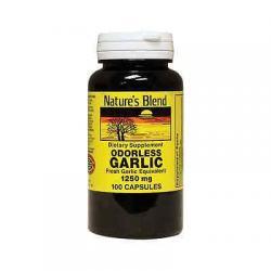 1897381 1.250 mg Natures Blend Odorless Garlic 100 Capsules