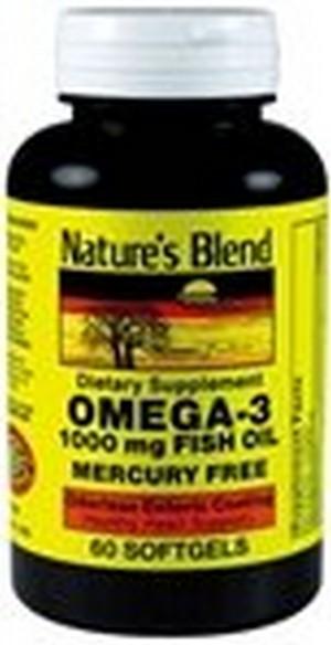 1897446 Natures Blend Omega-3 Fish Oil Odorless 60 Soft Gels