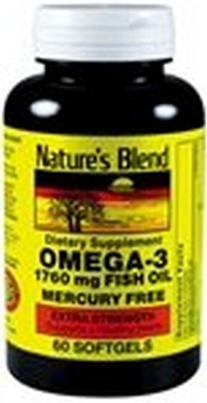 1897500 Natures Blend Fish Oil 1760 mg Omega 3 Extra Strength - 60 Soft Gels