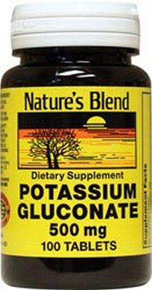 1897675 Natures Blend Potassium Gluconate 500 mg 100 Tablets