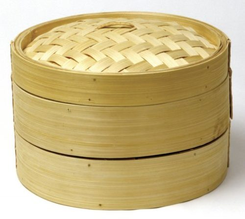 2 Tier Bamboo Steamer With Lid