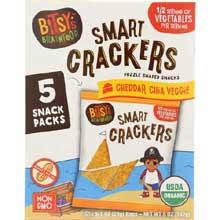 2006641 1 oz Organic Cheddar Chia Veggie Smart Cracker, Pack of 5