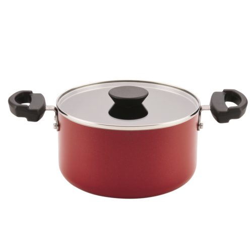 20458 3.5-quart Neat Nest Space Saving Aluminum Nonstick Covered Saucepot- Red
