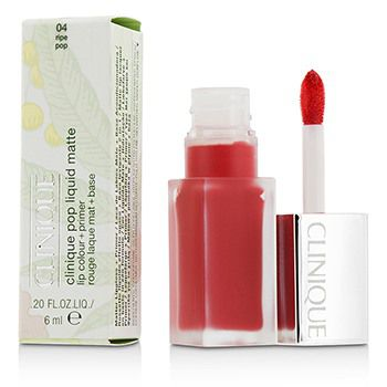 207091 0.2 oz Pop Liquid Matte Lip Color Plus Primer, 04 Ripe Pop