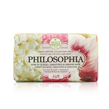 208660 Philosophia Natural Soap - Lift - Cherry Blossom, Osmanthus & Geranium with Bach Flowers & Vitamin E
