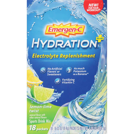 2137941 Hydration Plus, Lemon Lime Twist - Pack of 18