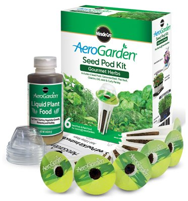 214556 6-Pod Gourmet Herbs Seed Pod Kit