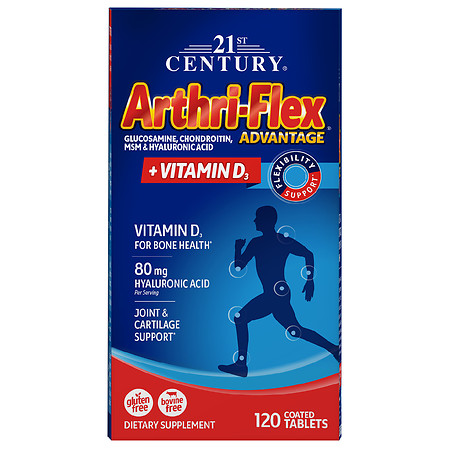 21st Century Arthri-Flex Advantage Glucosamine, Chondroitin, MSM + Vitamin D3 Tablets - 120.0 ea