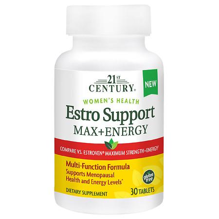 21st Century Estro Support Max + Energy - 30.0 ea