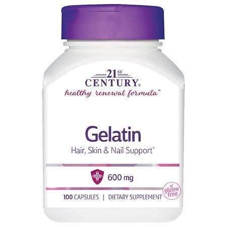 21st Century Gelatin 600mg Beauty Capsules - 100.0 ea