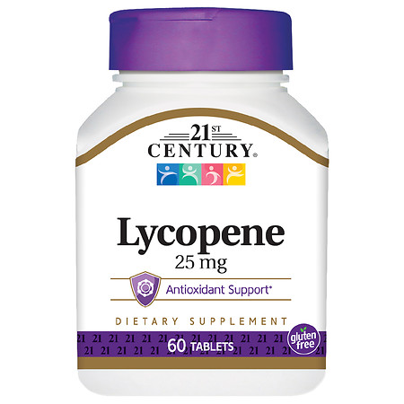 21st Century Lycopene 25mg, Maximum Strength - 60.0 ea