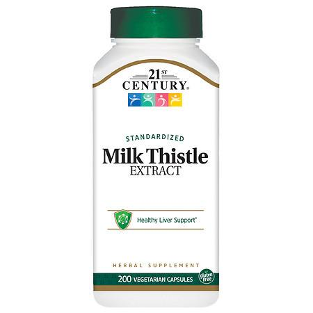 21st Century Milk Thistle Extract Vegetarian Capsules - 200.0 ea