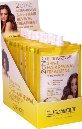 233896 1.75 oz Pineapple & Ginger 3 in 1 Hair Revival Treatment - 12 Packs per Box