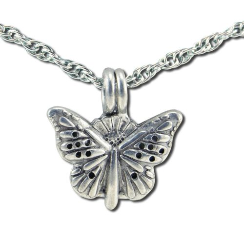 235114 24 in. Butterfly Diffuser Pendant Necklaces Chain