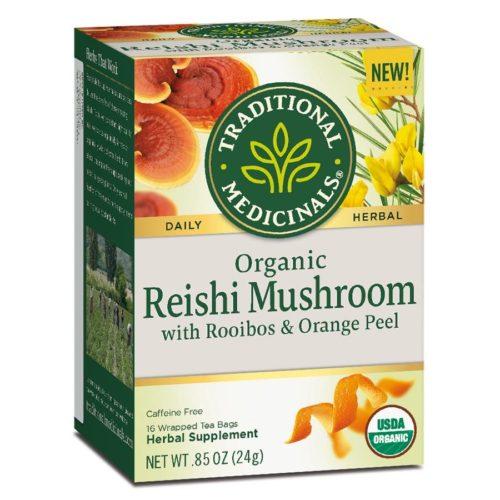 235162 Specialty Reishi Mushroom with Rooibos & Orange Teas Pack - 16 Tea Bags