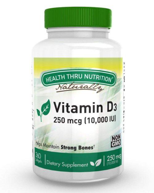 2363182 Vitamin D3 10000iu Softgels - 360 Count