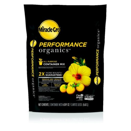250259 6 qt. Miracle-Gro Performance Organics 0.19-0.03-0.03 Container Mix