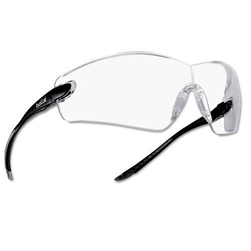 286-40037 Cobra Clear PC Asaf Safety Glasses, Black & Grey