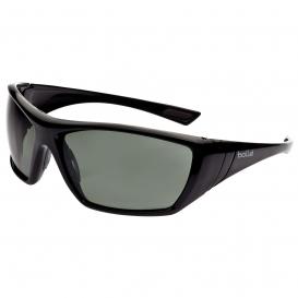 286-40149 Hustler Smoke PC ASAF Safety Glasses, Shiny Black