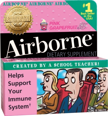 30017 Immune Support Effervescent Tablet, Pink Grapefruit, 10 Count