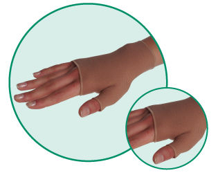 3021AC 1 3021AC Helastic Gauntlet with Thumb Stub 18-21mmHg - Size- 1-Extra Small