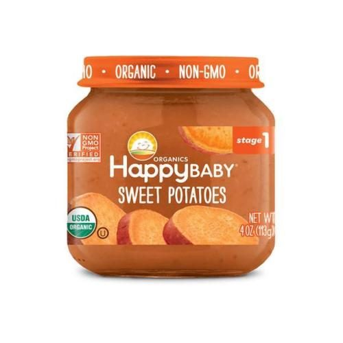 318851 Stage 1 Sweet Potato Clearly Crafted Baby Food in Jar, 4 oz - Pack of 12