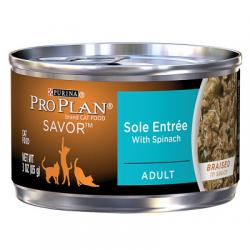 381835 3 oz Pro Plan A Savor Adult Cat Food - Case of 24