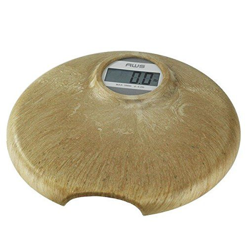 396TERA Faux Marble Digital Personal Bathroom Scale with Battery