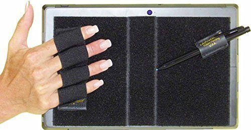 4 Loop Grip for Microsoft Surface with Stylus Grip, Black - Extra Large
