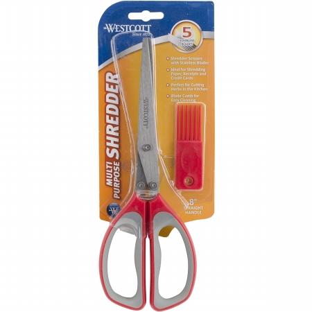409740 8 in. All Purpose Shredder Scissors, Red