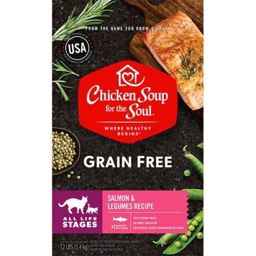 418461 No.12 Grain Free Lid Salmon Legumes Cat Food