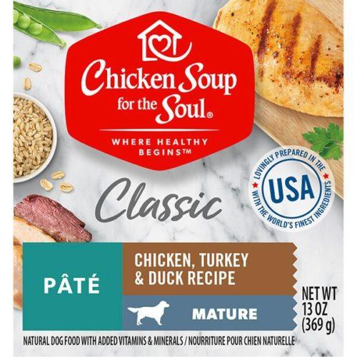 418516 13 oz Mature Chicken Turkey & Duck Pate Dog Food Can