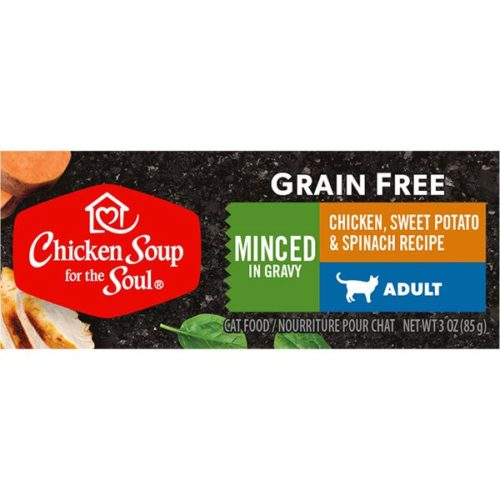 418517 3 oz Minced Chicken with Sweet Potatoes & Spinach Cat Food