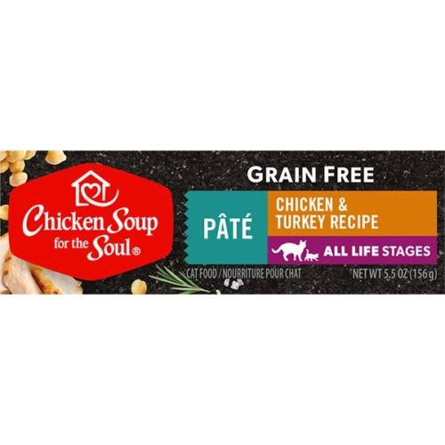418523 5.5 oz Grain Free Chicken & Turkey Pate Cat Food