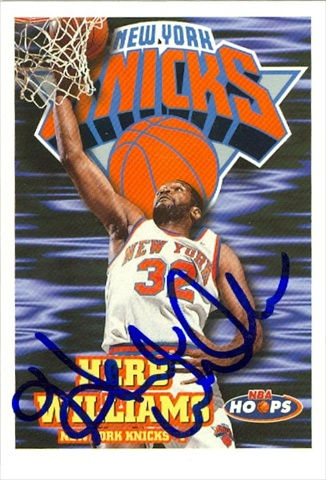 42503 Herb Williams Autographed Basketball Card New York Knicks 1998 Hoops No. 283