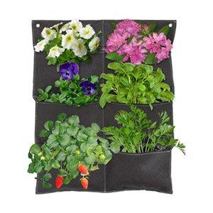 482169 Vertical Garden Balcony Planter - Brown, Pocket of 6