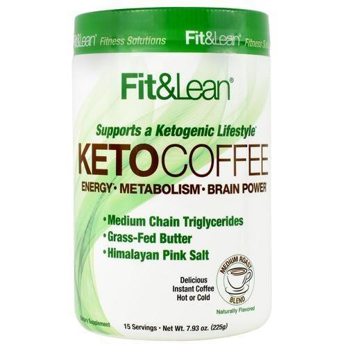 490248 Fit & Lean KETO Coffee, Medium Roast Blend - 15 Servings
