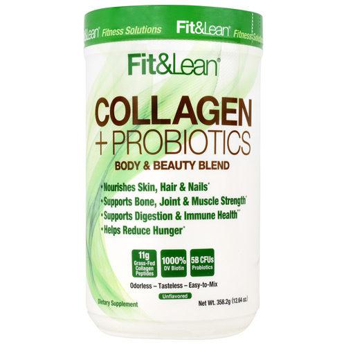 490255 Fit & Lean Collagen Plus Probiotics Herb-Powered Peptide Powder - 30 per Servings