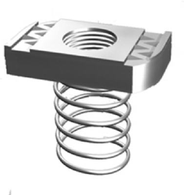 524494 0.5 in. Steel Spring Nut With SilverGalv Finish