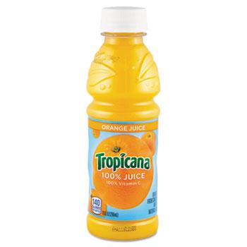 55154 100% Juice, Orange, 10oz Plastic Bottle, 24/Carton